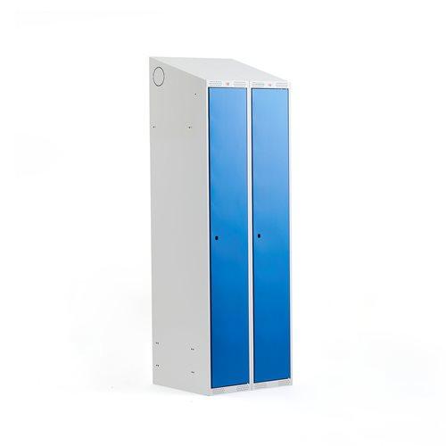 Szafa do przebieralni - 2 sekcje 1900x500x800mm, Kolor drzwi:, Niebieski