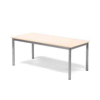 Pax table, 1200x600x500 mm, beech laminate, alu grey