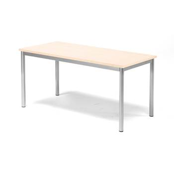 Pax table, 1200x600x600 mm, beech laminate, alu grey