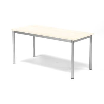 Pax table, 1200x600x600 mm, birch laminate, alu grey