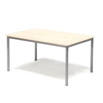Pax table, 1200x800x600 mm, birch laminate, alu grey
