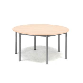 Pax table, Ø900x600 mm, beech laminate, alu grey