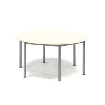 Bord Pax, Ø900x600 mm, lyddempende HPL, bjørk laminat