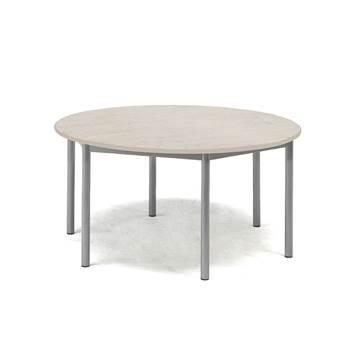 Bord Pax, Ø900x600 mm, lyddempende linoleum, grå