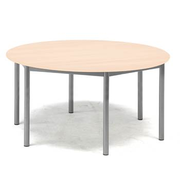 Pax table, Ø1200x600 mm, beech laminate, alu grey
