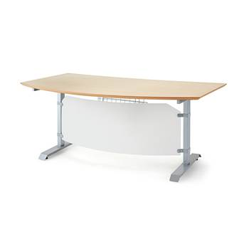 Korkeussäädettävä pöytä Småland, 1500x700 mm, koivu