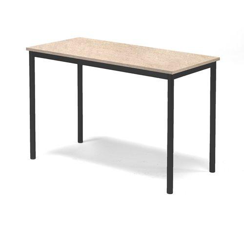 Pöytä Sonitus, Linoleumi, K 800, P 1200, L 600, Beige, Musta
