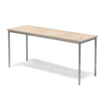 Sonitus desk, 1800x700x800 mm, beige linoleum, alu grey