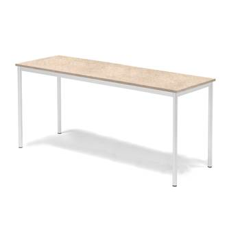 Sonitus desk, 1800x700x800 mm, beige linoleum, white