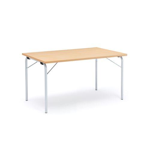 Taittopöytä Nicke, 1400x800x720 mm, galvanoitu, pyökki