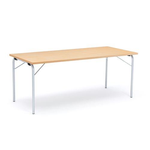 Taittopöytä Nicke, 1800x800x720 mm, galvanoitu, pyökki