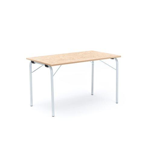 Taittopöytä Nicke, 1200x700x720 mm, galvanoitu, beige linoleum