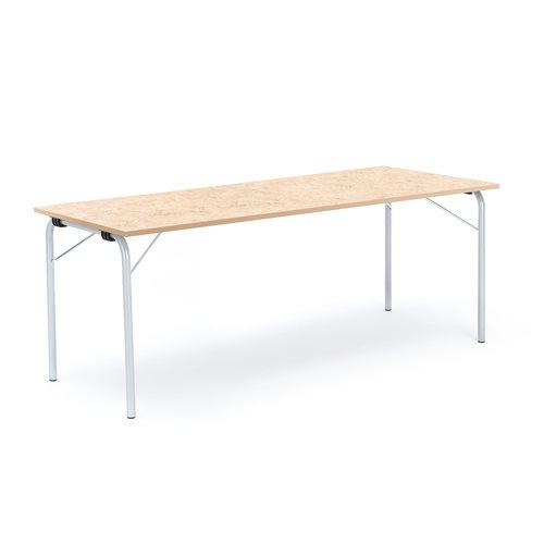Taittopöytä Nicke, 1800x700x720 mm, galvanoitu, beige linoleum
