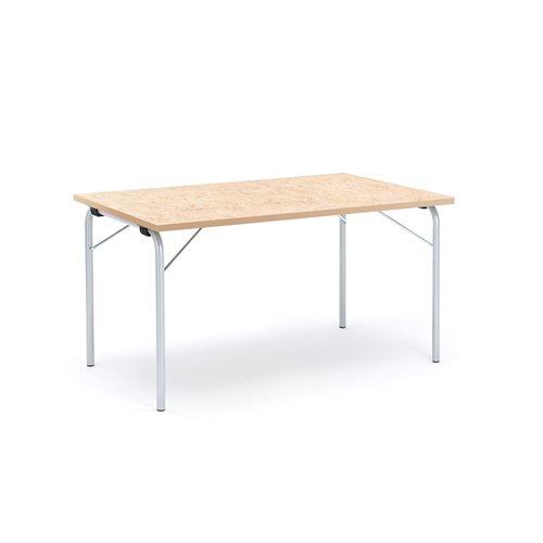 Taittopöytä Nicke, 1400x800x720 mm, galvanoitu, beige linoleum
