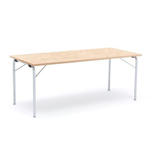 Taittopöytä Nicke, 1800x800x720 mm, galvanoitu, beige linoleum