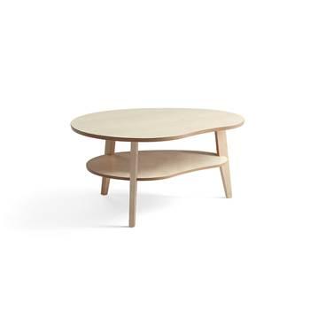 Sofabord 1000x800 mm, massiv eik, bjørk