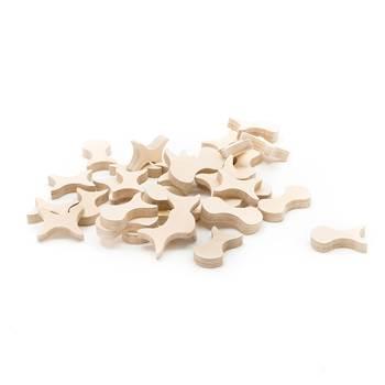 Zestaw drewnianych form