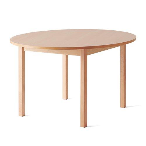 Pöytä Europa X, pyöreä, Ø1200, Korkeus 720 mm, Pyökki, ääntä