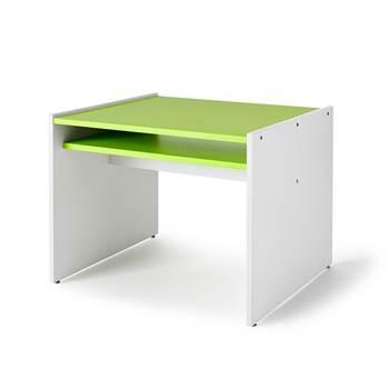 Lek- og spillbord Mille, hvite sider / grønn bordplate
