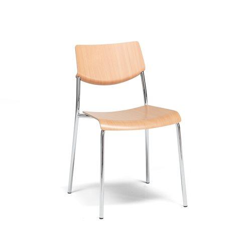 Krzesło Allo, chrom, buk