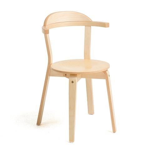Stabilne krzesło z litego drewna brzozowego