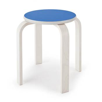 Björk wooden stool, H 350 mm, blue