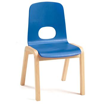 Scala children's chair, H 380 mm, beech, blue