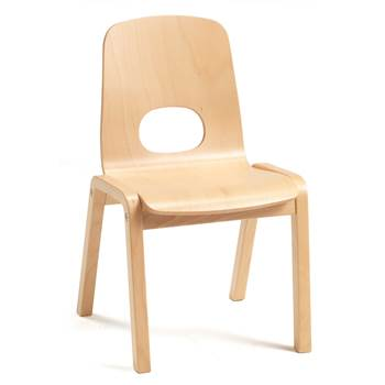 Scala children's chair, H 380 mm, beech, beech