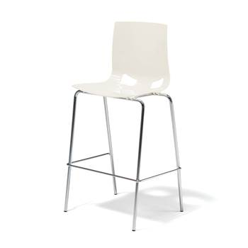 Samba bar chair, white