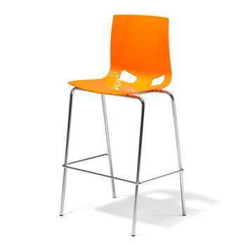 Pomarańczowy stołek barowy z polipropylenu