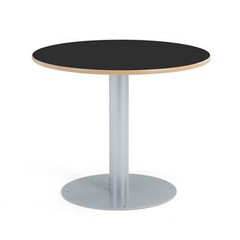 Bord Örgryte, ø900x720 mm, laminat, svart