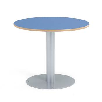 Fixed canteen table, Ø 900x720 mm, blue