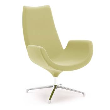 Modern lounge chair, green
