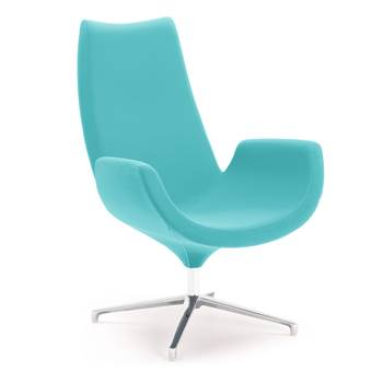 Modern lounge chair, turquoise