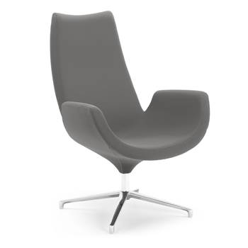 Modern lounge chair, dark grey