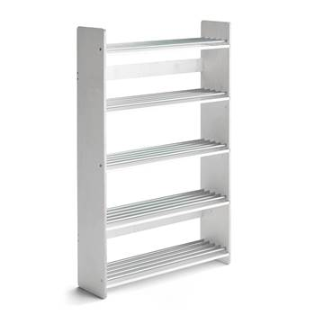 #en Shoerack Isa 900x250xh.1400 mm. Tinted white