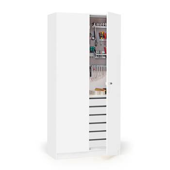 Wooden tool cabinet, 1000x470x2100 mm, white