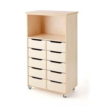 Mobile storage pedestal with shelf