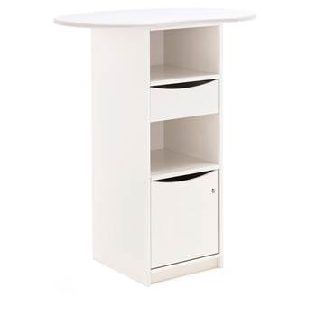 #en Desk unit standing, tinted white plywood B500xD400xH1000 mm. With stand