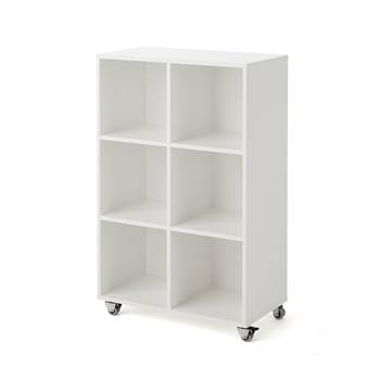 Rak mobile storage unit, 6 comps, 810x420x1250 mm, white