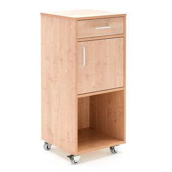 Mobile lectern with drawer and cupboard, 460x450x1045 mm, beech