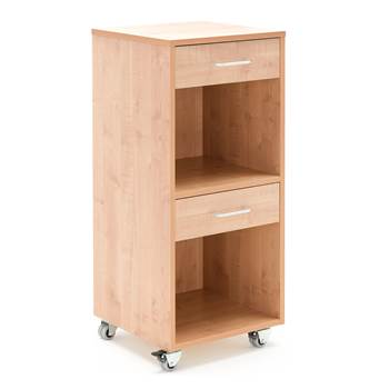 Mobile lectern with two drawers, 460x450x1045 mm, beech