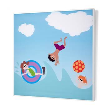 Noise absorbing panels, 1200x1200x60 mm, seaside mural