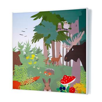 Noise absorbing panels, 1200x1200x60 mm, forest mural