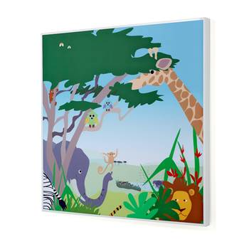 Noise absorbing panels, 1200x1200x60 mm, safari mural