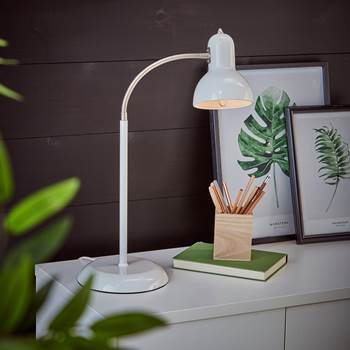 Traditional desk lamp, white