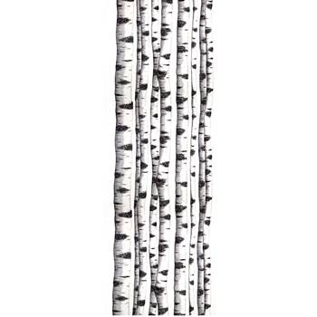 Noise absorbing wall tapestry, 650x2200 mm, forest