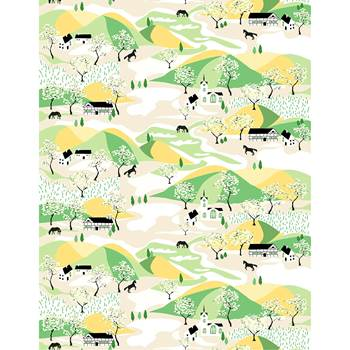 Noise absorbing wall tapestry, 1400x2200 mm, countryside