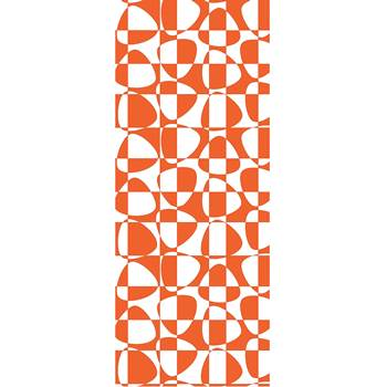 Ljudabsorberande textil Pix orange, 650x2200 mm