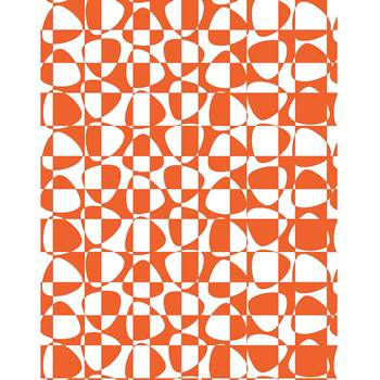 Noise absorbing wall tapestry, 1400x2200 mm, abstract, orange and white